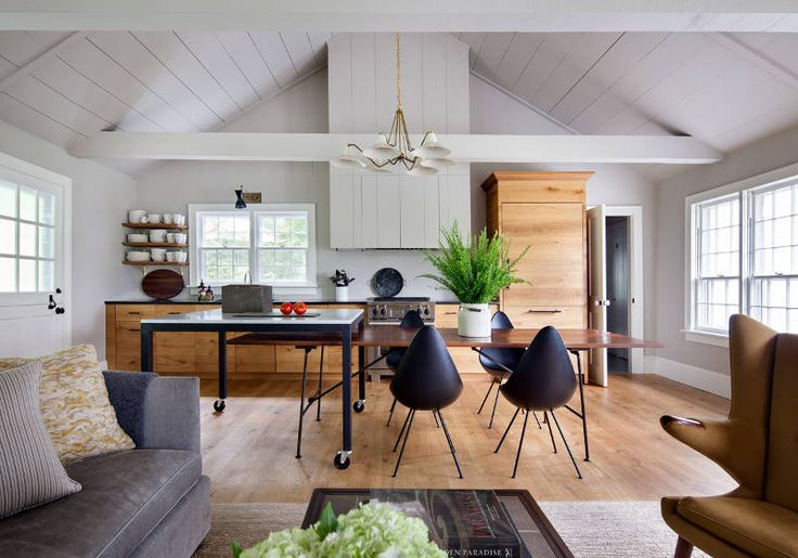 black drop chairs in a traditional colonial home