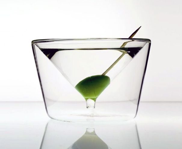 Inside out martini glass -- fab (negative space martini glass)