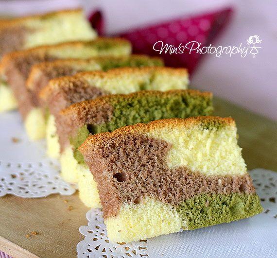 Min's Blog: 三色相思蛋糕 Tri-colour 'Xiang Si' Cake
