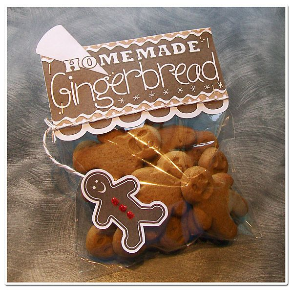 Gingerbread gift bag topper by livelys - Cards and Paper Crafts at Splitcoaststampers