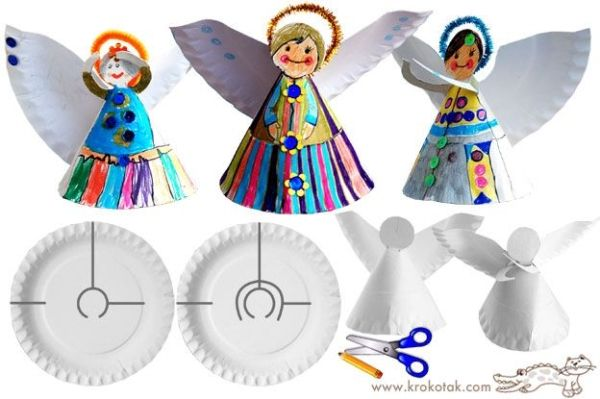 Paper plate angels and more by Cláudia Brito