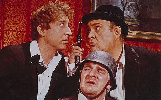 kenneth mars images | Kenneth Mars (centre) with Gene Wilder (left) and Zero Mostel in 'The ...