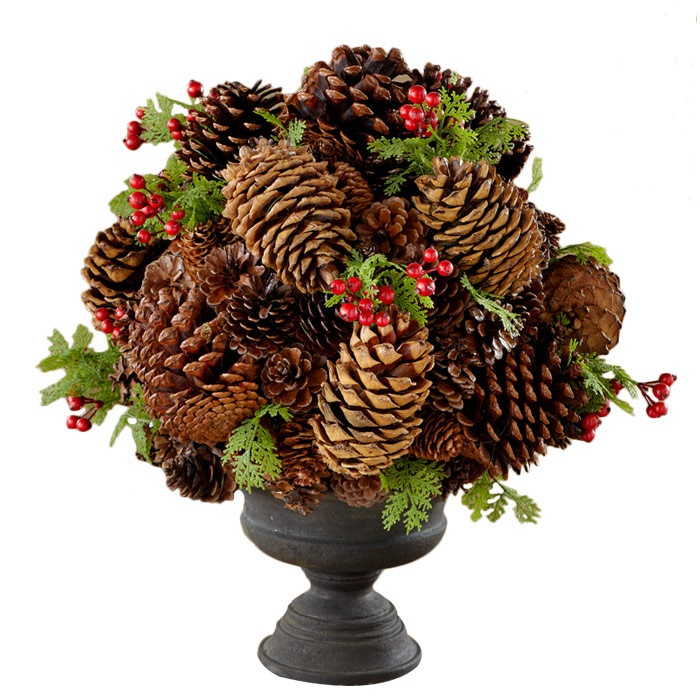 Best pinecone crafts images on pinterest christmas