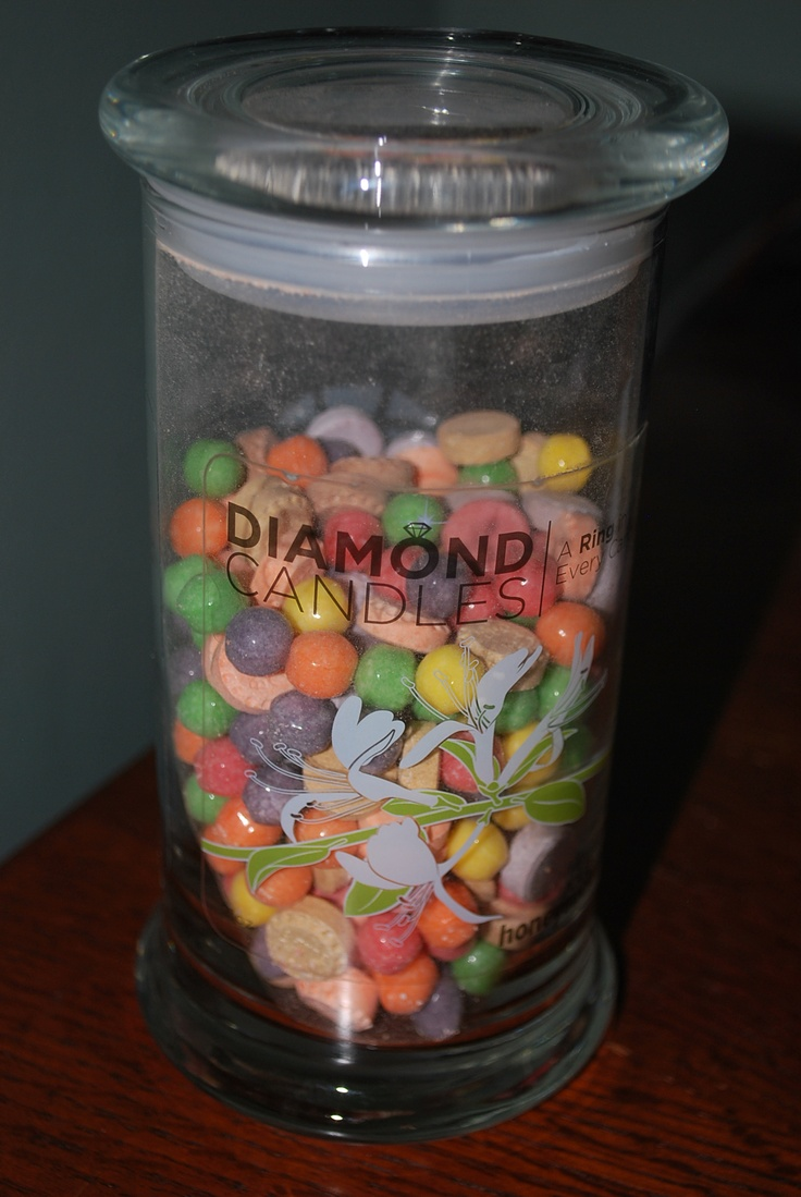 Diamond Candle Jar Reuse - Candy Jar