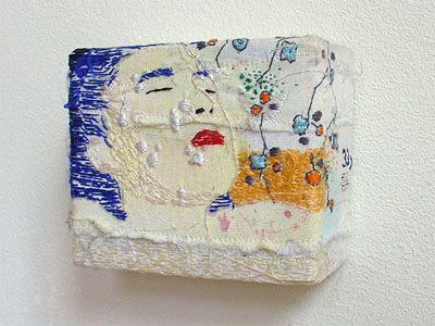 hinke Schreuders -yarn and acrylic on canvas