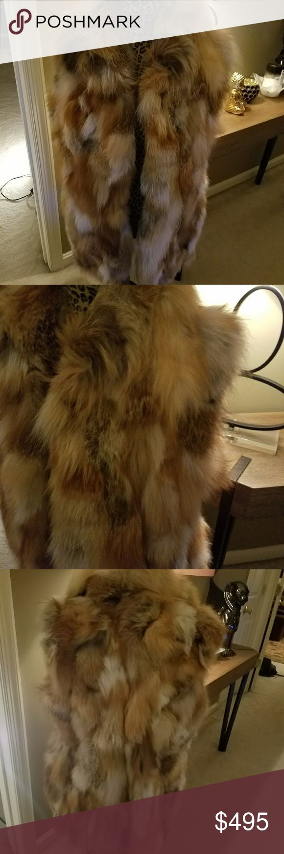 Authentic Fox fur vest Authentic Fox fur vest real fur Other