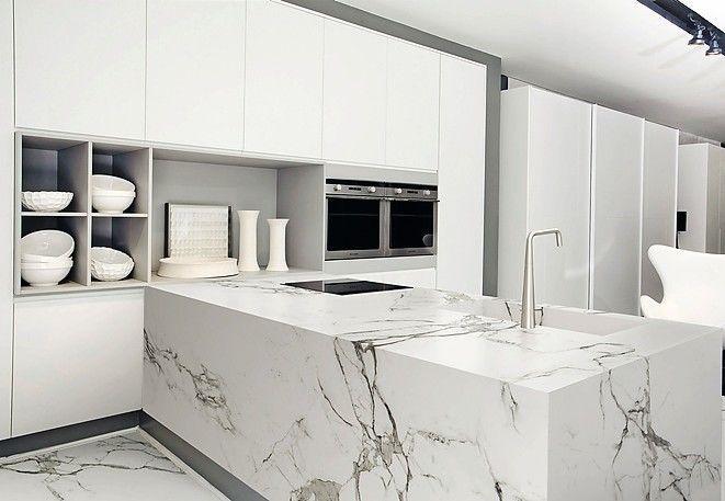 Keramik Ganz Gross In 2020 Weisser Marmor Kuche Arbeitsplatte Kucheneinrichtung