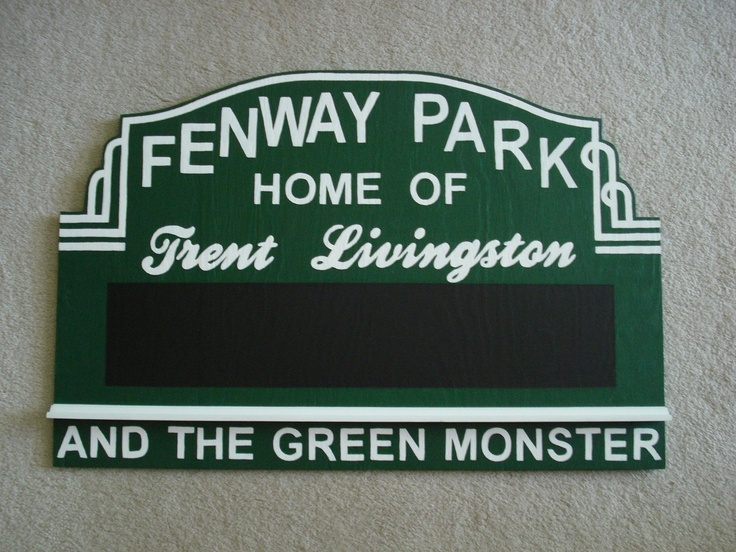 Items Similar To Custom Gift Hand Painted Sports Stadium Baseball Park Football Bedroom Personalized Chalkboard On Etsy