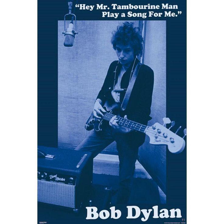 Bob Dylan - Mr. Tambourine Man 24x36 Standard Wall Art Poster