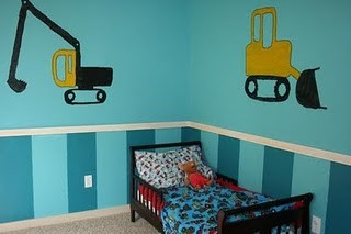 Toddler Construction Room.  This would be perfect for my nephew Marshall!