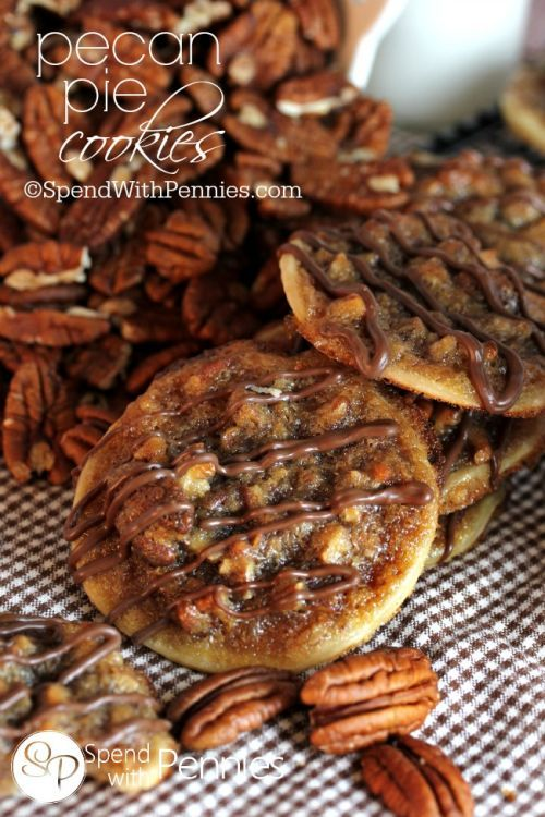 Pecan Pie Cookies have a deliciously sweet, caramel-y, nutty filling with a flaky pastry base! Deliciously easy to make & even easier to eat!