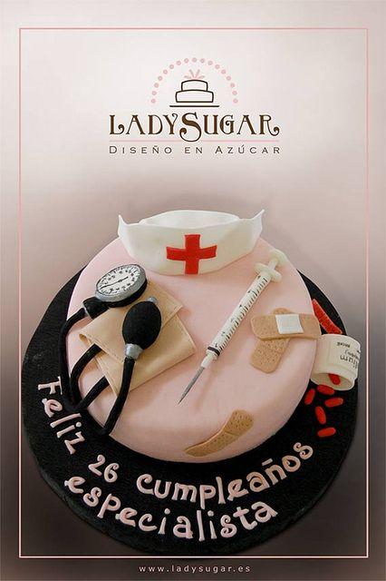 Tarta para una enfermera - Nurse cake by LadySugar Diseño en Azúcar, via Flickr