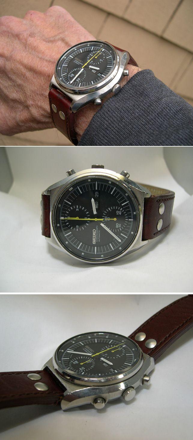 Seiko 6138 - Chronograph on leather