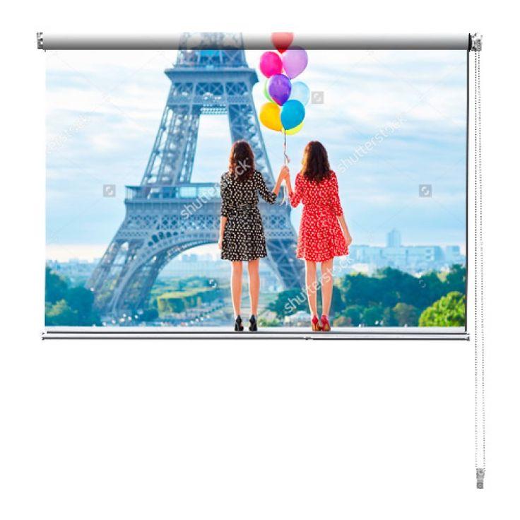 Rolgordijn Een dag in Parijs | De rolgordijnen van YouPri zijn iets heel bijzonders! Maak keuze uit een verduisterend of een lichtdoorlatend rolgordijn. Inclusief ophangmechanisme voor wand of plafond! #rolgordijn #gordijn #lichtdoorlatend #verduisterend #goedkoop #voordelig #polyester #vrouwen #parijs #frans #frankrijk #eiffeltoren