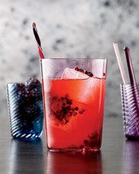 Bourbon Blackberry Collins - Blackberries, Bourbon, Lemon Juice, Simple Syrup, Club Soda.