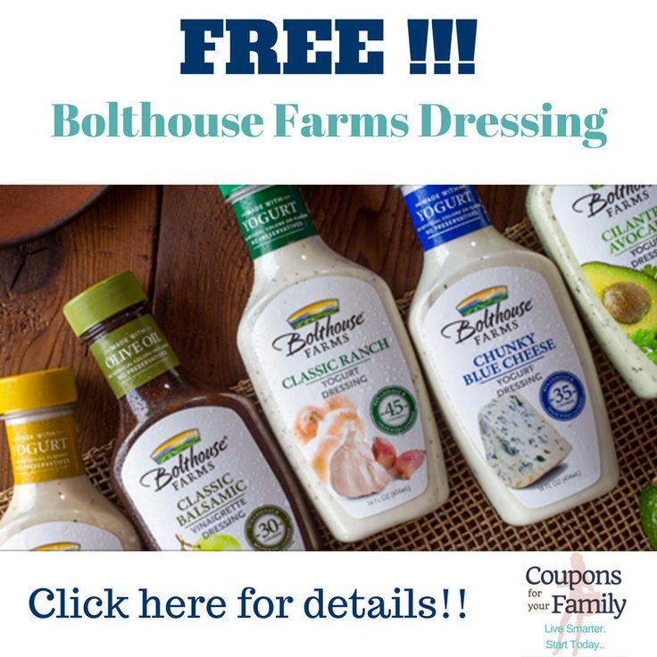 **HOT** Better than Free Bottle of Bolthouse Farms Salad Dressing at Target,Tops, Walmart or Wegmans! - http://www.couponsforyourfamily.com/hot-better-than-free-bottle-of-bolthouse-dressing/
