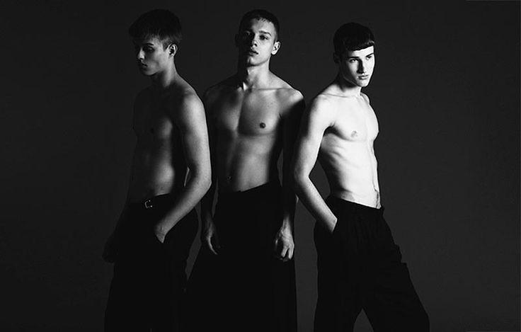 Arthur Olecki, James Venn and Kieran Martin photographed by Rokas Rach and styled by Mervyn Boriwondo for Hysteria Magazine.