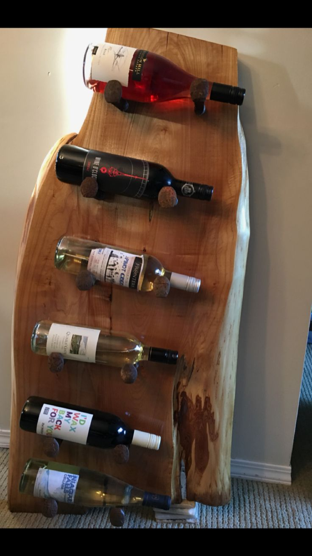 Maple natural Edge wine rack