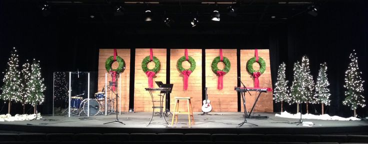 Michael Cokerham from Currey Creek in Boerne, Texas brings us these five Christmas walls. They started this stage design with 5 panel wall elements. They constructed them using 2X2 lumber instead o...