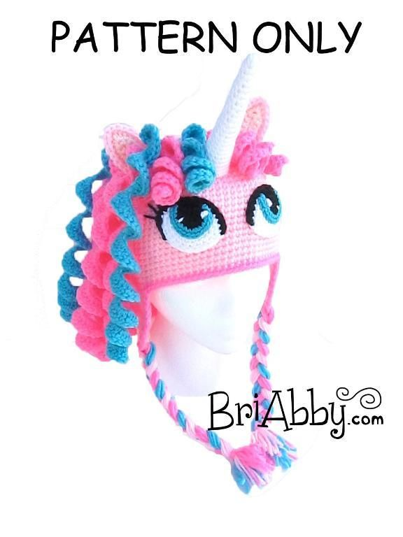 Crochet Unicorn / Pony Hat via Craftsy
