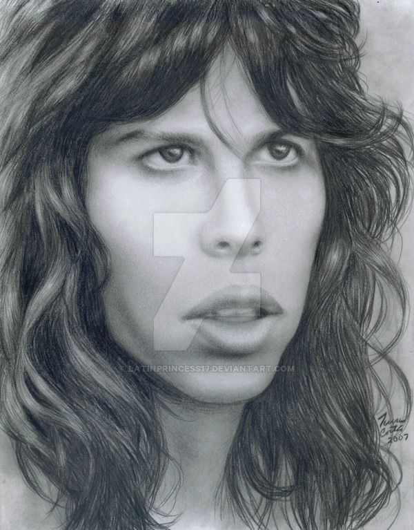 A Young Steven Tyler Tools Used Printer Paper Ebony