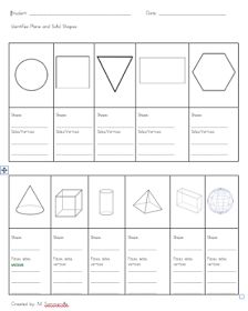 Here are links to my latest freebie and I'll warn you, they're no-frills! Plane and solid shape assessment page 1 : Plane and solid...