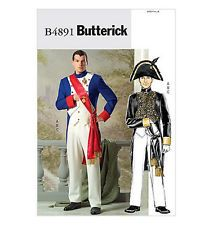"""SEWING PATTERN Butterick BP190 B4891 46""""-56"""" NAPOLEAN French Revolution COSTUMES"""