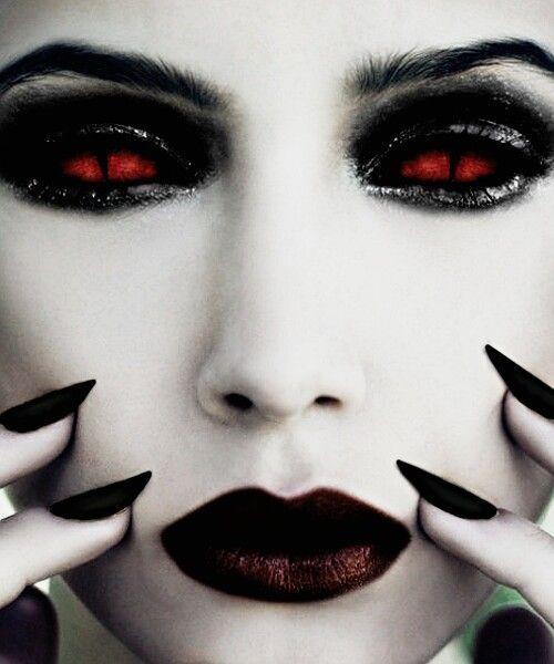 Demon eyes #halloween #makeover #lenses