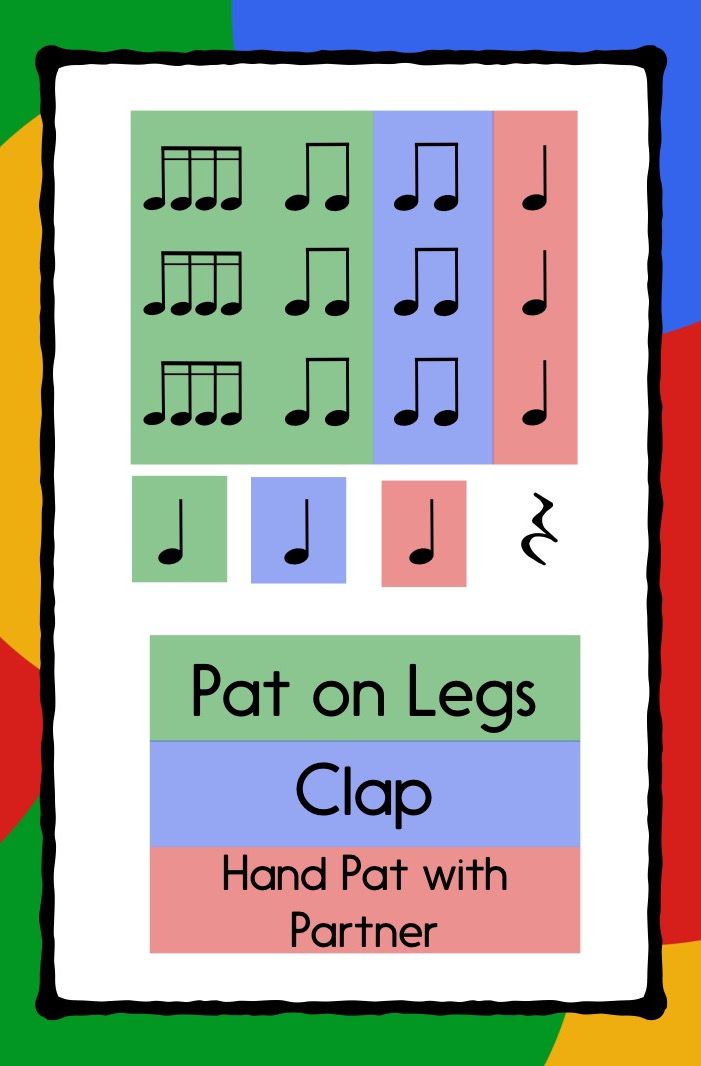 Add a clapping game or body percussion to any folk song.