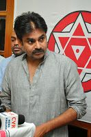 Pawan Kalyan Election Results 2014 Press Meet Photos, Jana Sena Chief Pawan Kalyan press meet on Election Results and congratulates Telugu Desam Party and BJP on the win