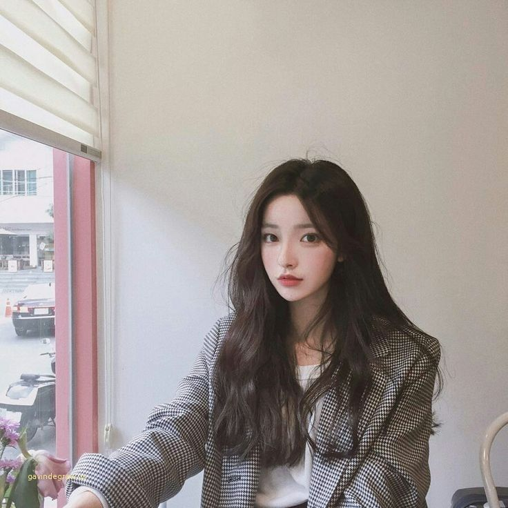 Beautiful cute Korean girl with beauty long-haired, #the #korean #langha ...