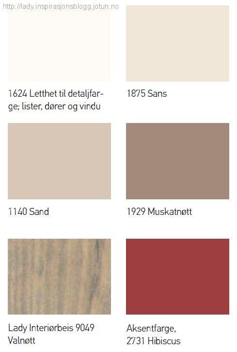 Farger til hytta_Fargepalett Fjellhytte