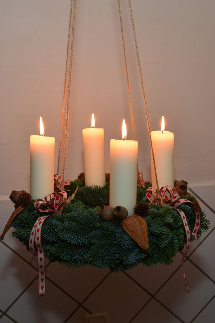1000 ideas about advent wreaths on pinterest advent - Pinterest advent ...