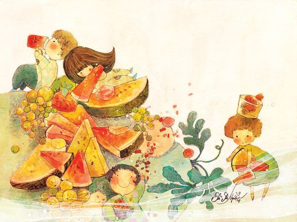Watermelon by nguyenshishi.deviantart.com on @DeviantArt