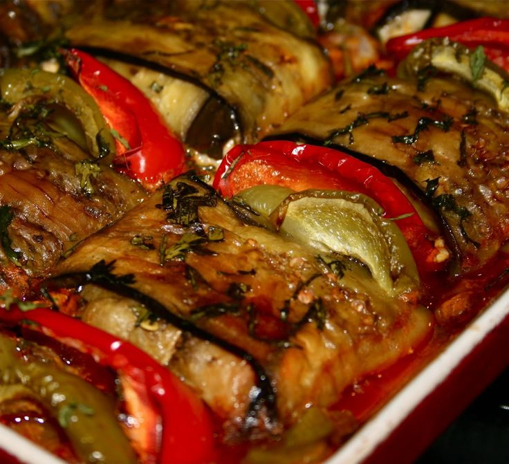 KEBAB Wrapped In Eggplant Baked in Tomato Sauce. (you can use beef instead of lamb)