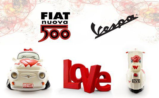 Fiat 500 & Vespa LOVE Edition