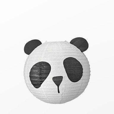 Lampskärm Panda, Ø50 cm, vit