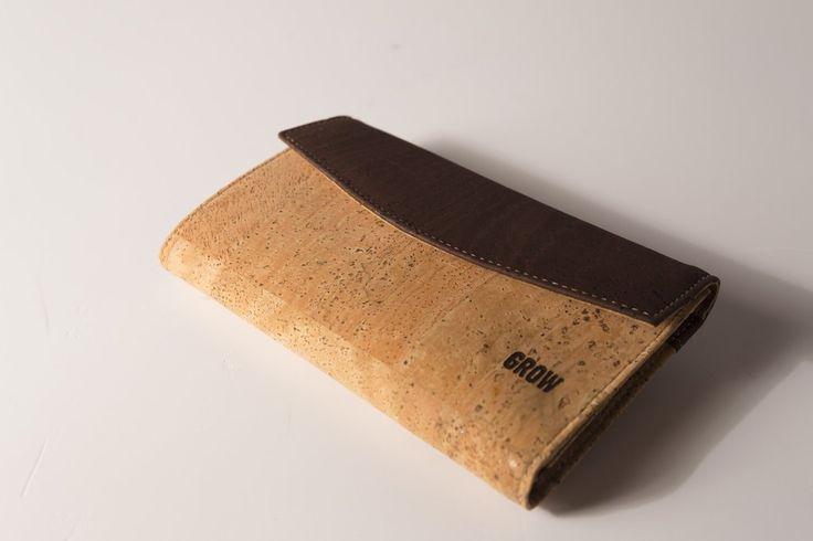 Grow's Quercus Robusta Light Cork Wallet for Woman