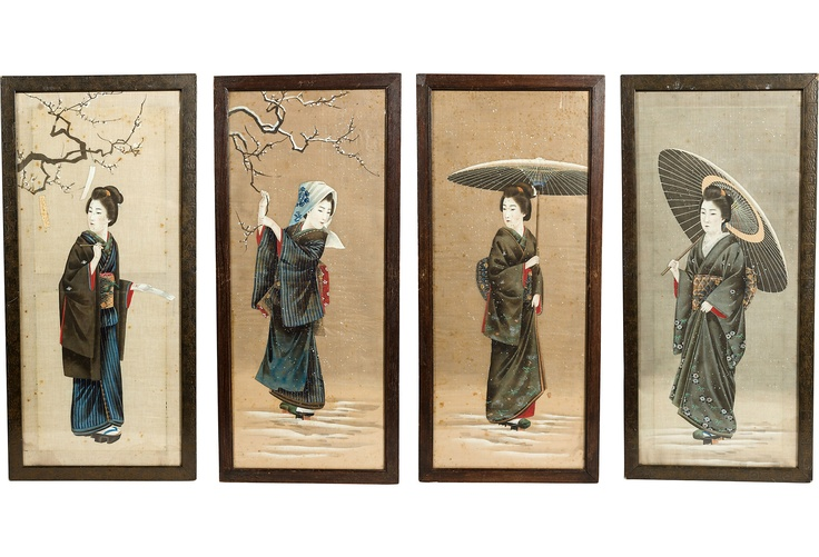 17 Best Images About Japanese Silk Screens On Pinterest