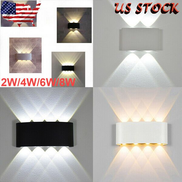 2 4 6 8w Waterproof Led Sconce Up Down Wall Lamp Aluminium Lights Home Decor Wall Lights Ideas Of Wall Lights W Wall Lights Led Wall Lights Led Wall Lamp