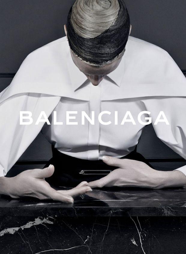 Part of the Balenciaga Fall 2013 advertising campaign. Photo: Steven Klein.