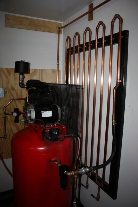 compressor plumbing and manifolds used to remove water and oil from the air line- The Garage Journal Board