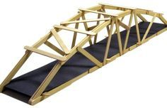 25″ Arched Warren Popsicle Stick Bridge