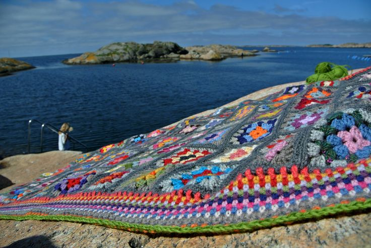 crochet blanket in progress ...