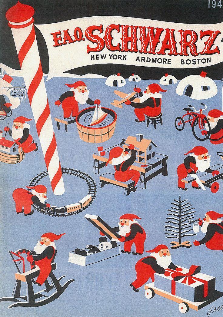 Vintage 1940s toys (Sant's Workshop) - FAO Schwarz Christmas Catalog | Source: Letterology