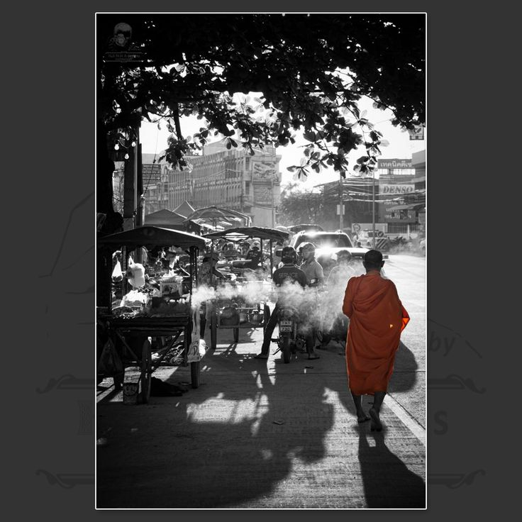 Thai Monk in Sukhothai, Northern Thailand  https://www.facebook.com/HannaDesignsPhotography  © 2012 - HANNAdesigns Photography - All rights reserved