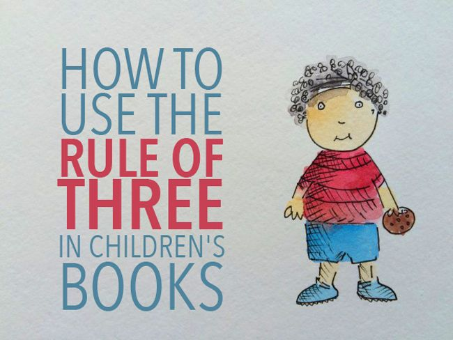 how to use the rule of three in books