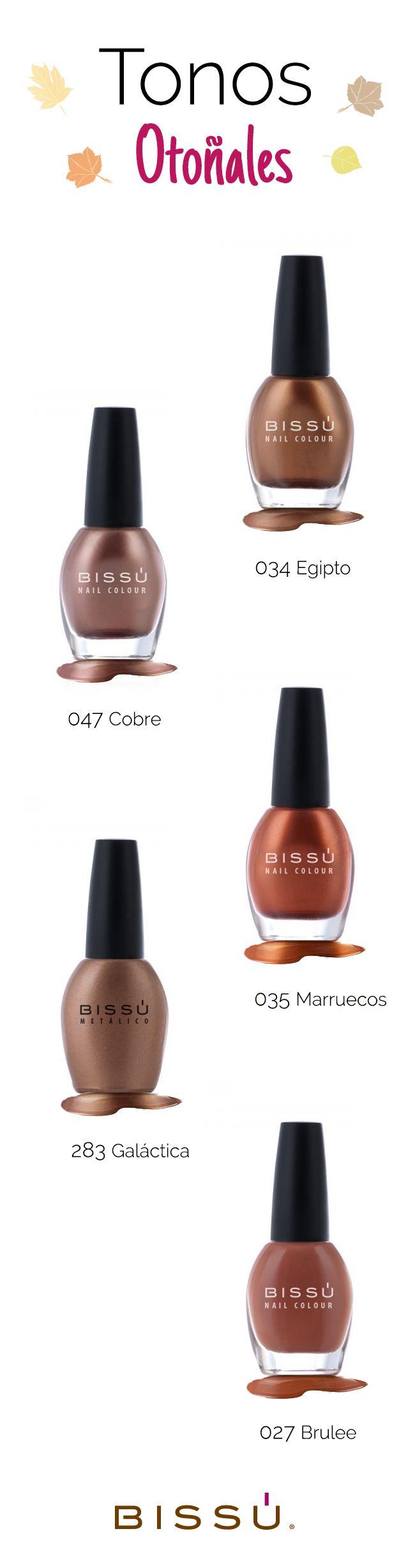 Los tonos de esmalte ideales para esta temporada. http://tiendaweb.bissu.com/esmaltes-15ml/89--esmaltes.html