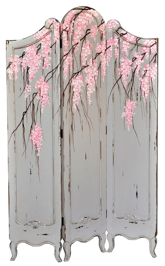 Best BIOMBOS Images On Pinterest Room Dividers Folding - Cherry blossom room divider screen