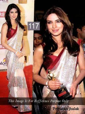 Priyanka Jhalak Bolywood Designer Saree With Blouse Bollywood Sarees